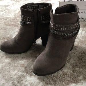 Women heeled bootie.